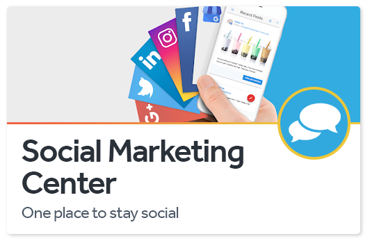 social media marketing center post all profiles facebook instagram google plus business twitter